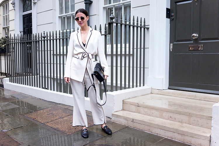 london-fashion-week-white-suit-pajama-trend The Pajama Trend Is On