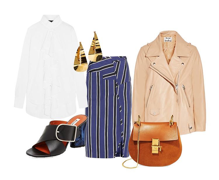 shop-spring-acne-studios-skirt-stripes-chloe-bag-poplin-shirt Ready For Spring