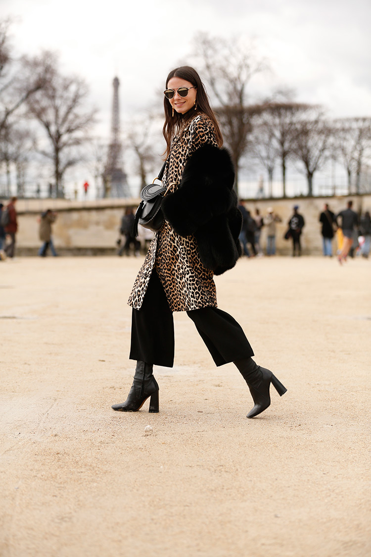 leopard-coat Paris Fashion Week