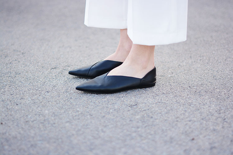 black-leather-flats Why Total White?