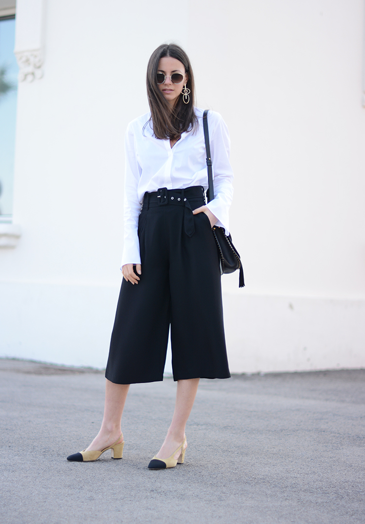chloe-bag-culotte-pants-chanel-shoes-fashionvibe You Can Never Go Wrong With A Classic Look