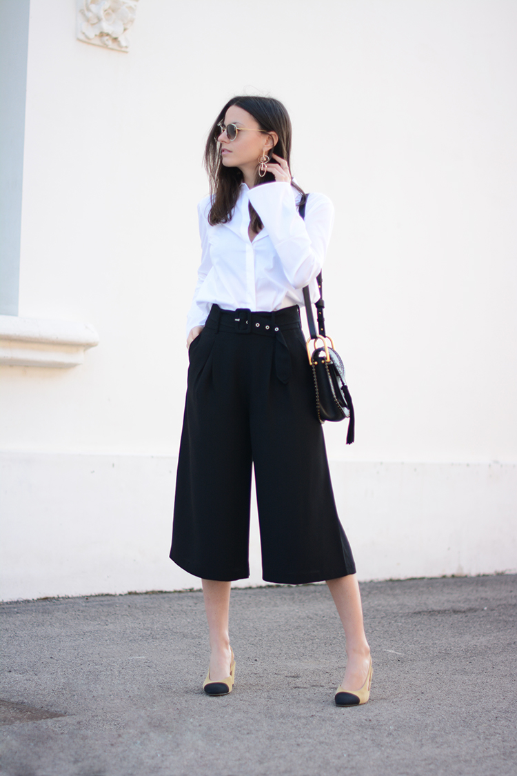 coulotte-pants-zara-white-shirt-fashionvibe You Can Never Go Wrong With A Classic Look