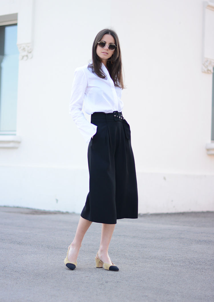 spektre-sunglasses-chanel-slingback-white-shirt-zara-fashionvibe You Can Never Go Wrong With A Classic Look