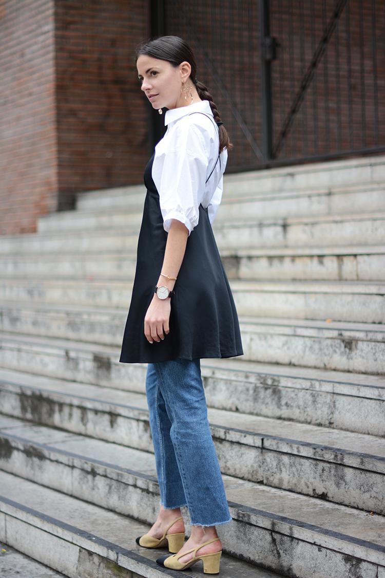 silk-dress-satin-black-shirt Wear Your Satin Dress With Jeans