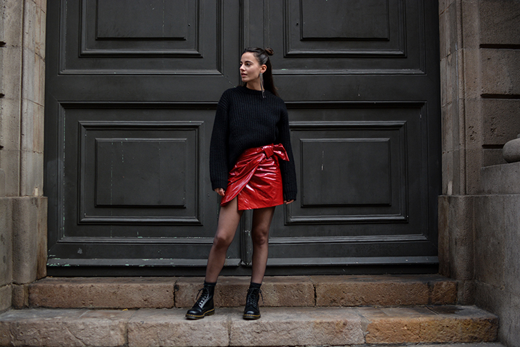 isabel-marant-patent-red-skirt-fashionvibe What´s With The Red Patent Skirt?