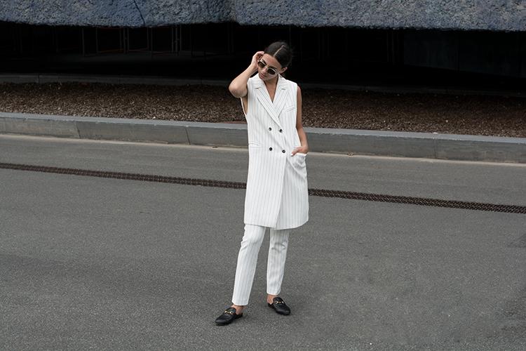 alba-conde-fashionvibe-white-stripes Alba Conde White Suit!
