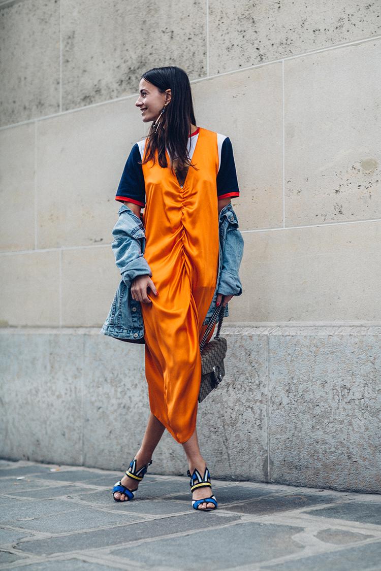 orange-neon-dress-fashion-week-fashionvibe-zina-charkoplia Orange Neon Is Back